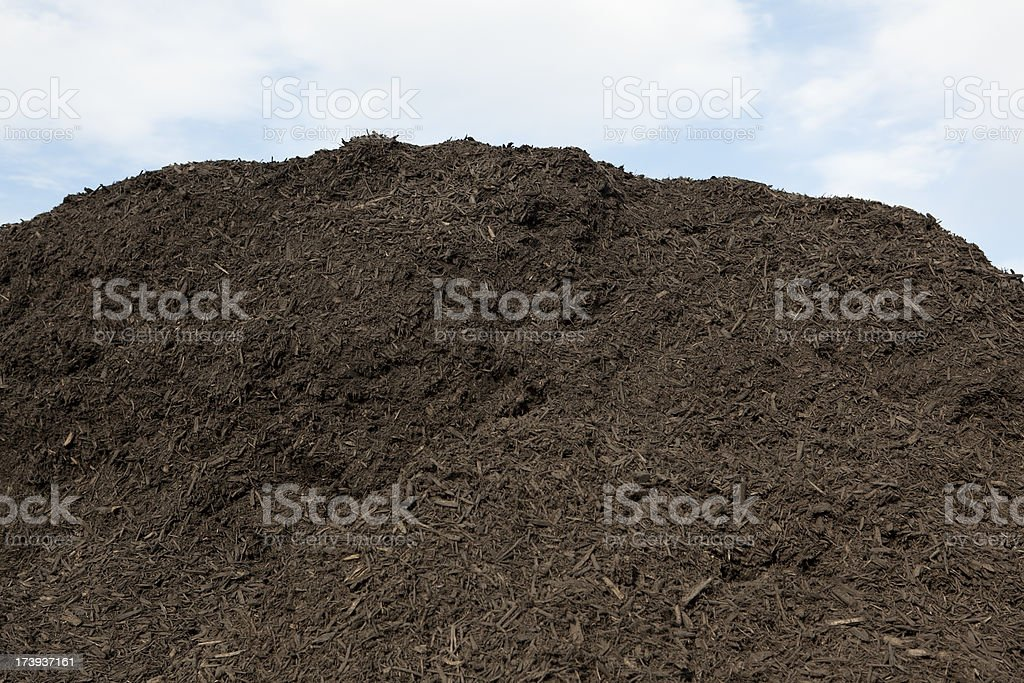 Brown Mulch Pile royalty-free stock photo