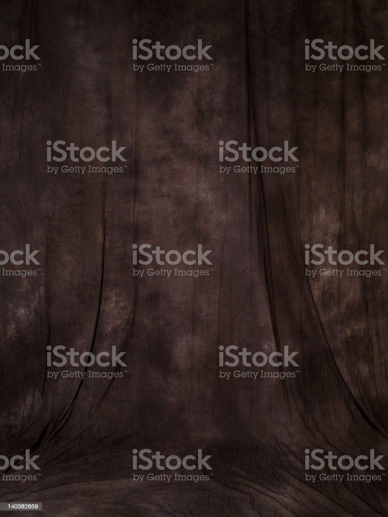 Brown muslin backdrop stock photo