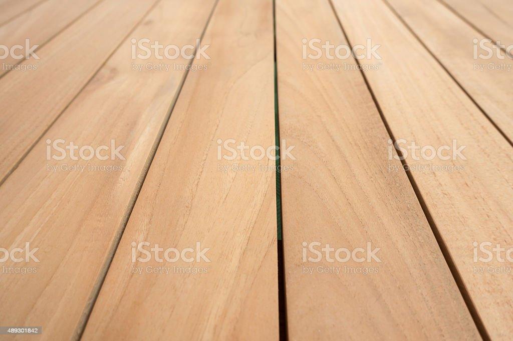 Brown Natural Wooden Garden table surface stock photo