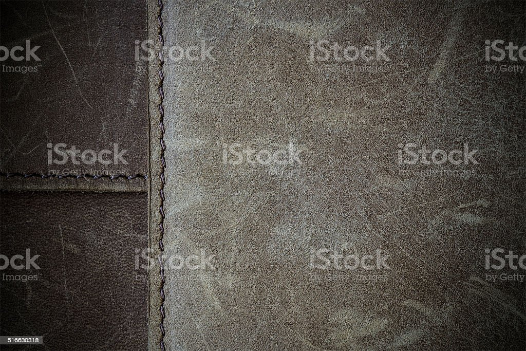 Brown nubuck leather texture stock photo
