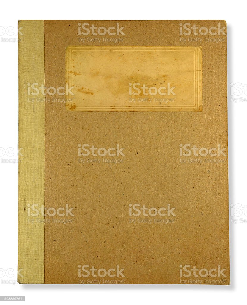 brown old book stock photo