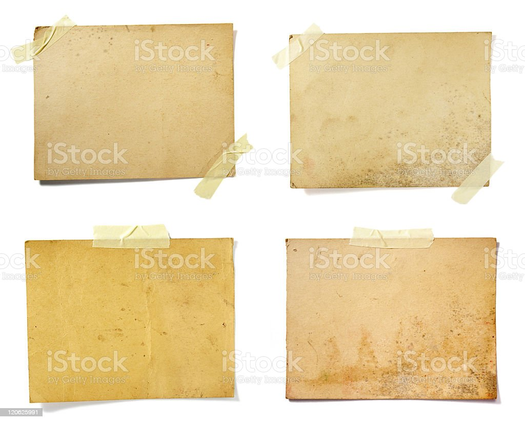 brown old note paper stock photo
