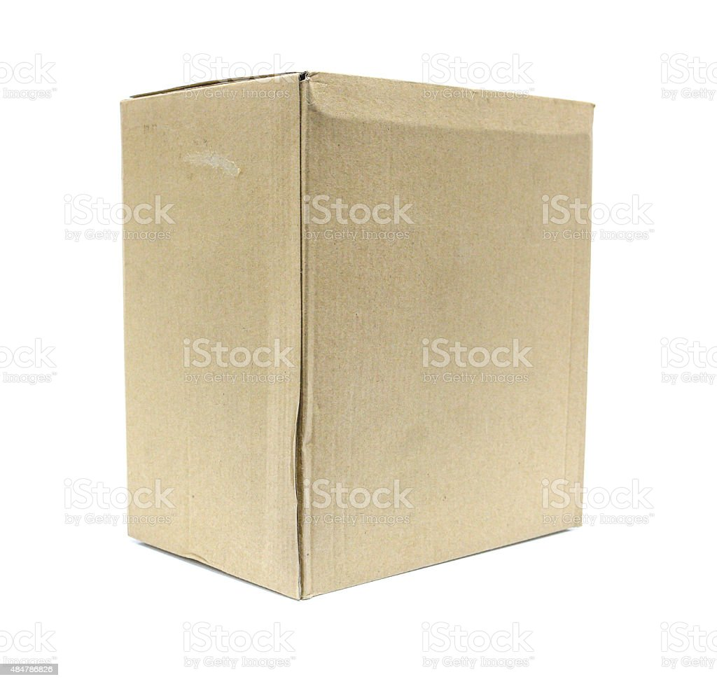 Brown Old packaging cardboard royalty-free stock photo