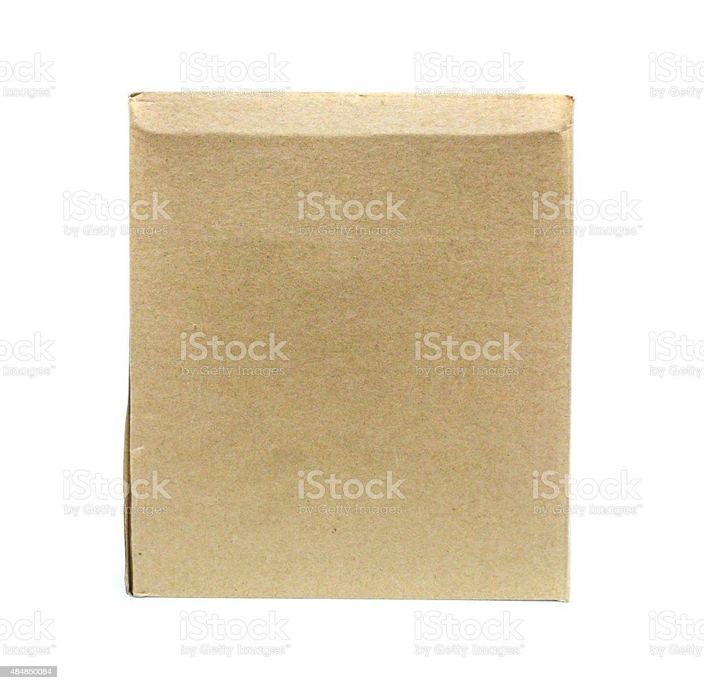 Brown Old packaging cardboard royalty-free stock photo