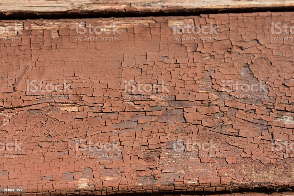 Brown old painted wooden wall texture as background stock photo