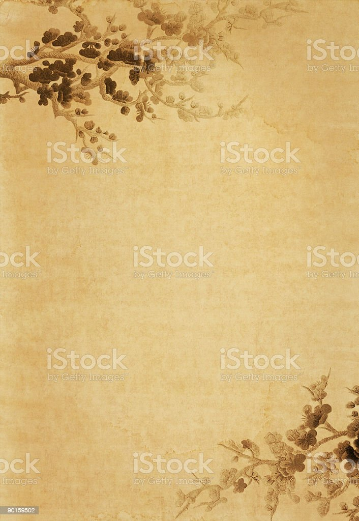 a brown old paper floral design template stock photo 90159502 | istock, Powerpoint templates