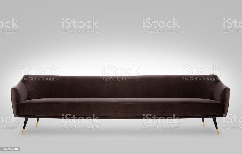 brown old school sofa royalty-free stock photo