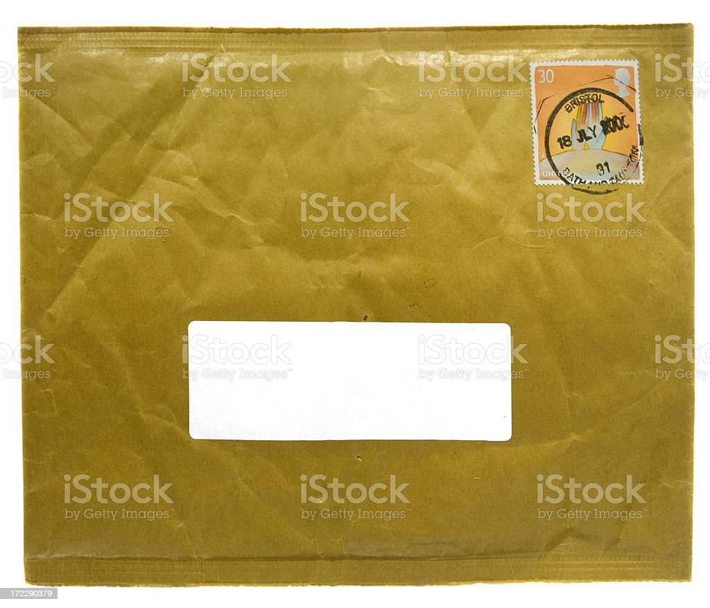 Brown Padded Envelope (XLarge) royalty-free stock photo