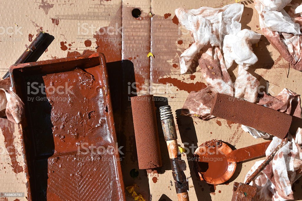 brown paint Background stock photo