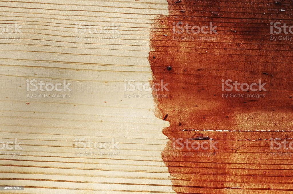 brown paint on old wooden background stock photo