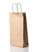 Brown paper bag - angled