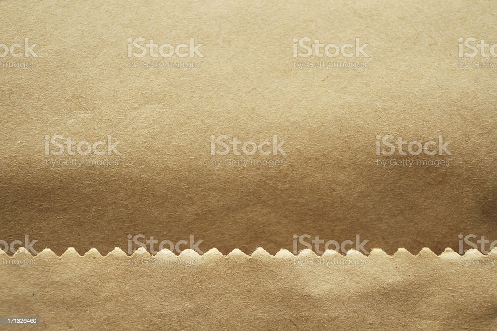 brown paper bag detail stock photo