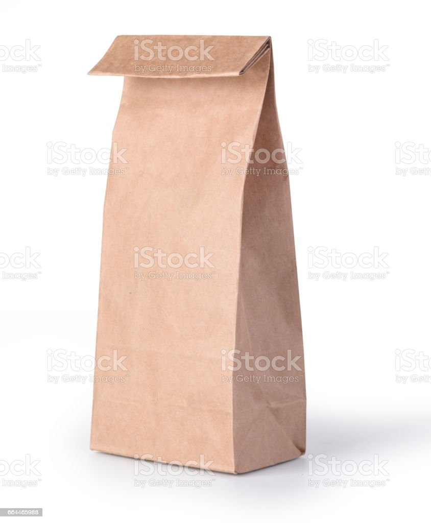 brown paper bag i stock photo