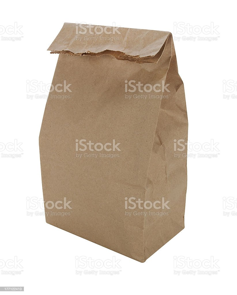 Brown Paper Bag Lunch royalty-free stock photo