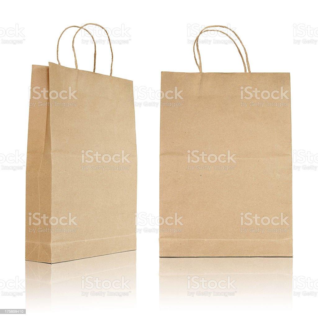 Brown paper bag royalty-free stock photo