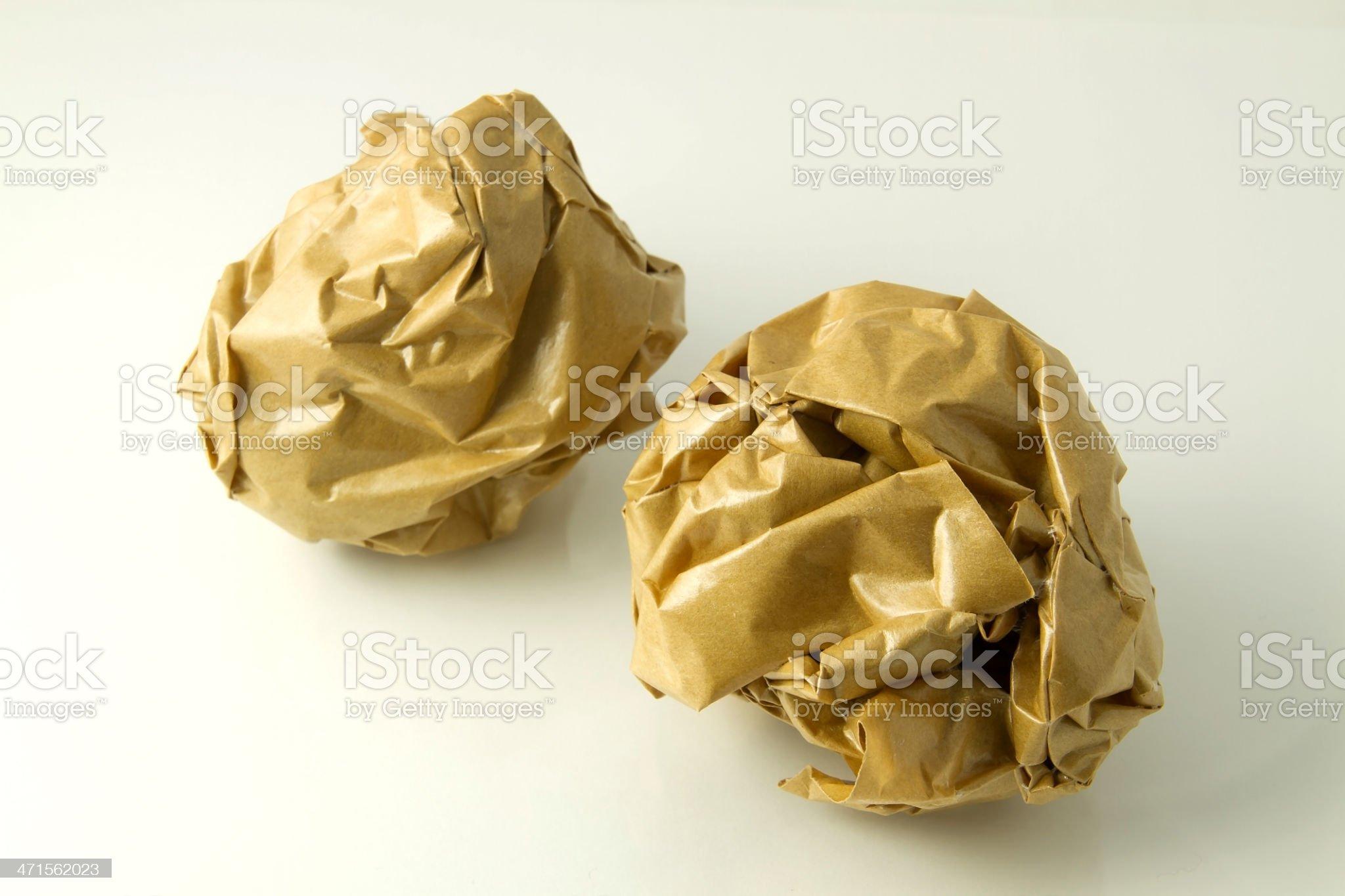 Brown paper balls royalty-free stock photo