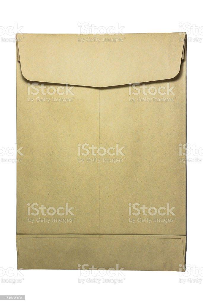 brown paper envelop royalty-free stock photo