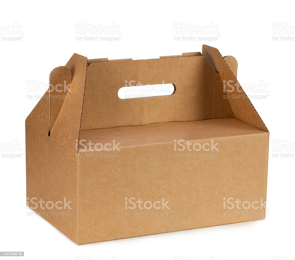 brown  paper handbag stock photo