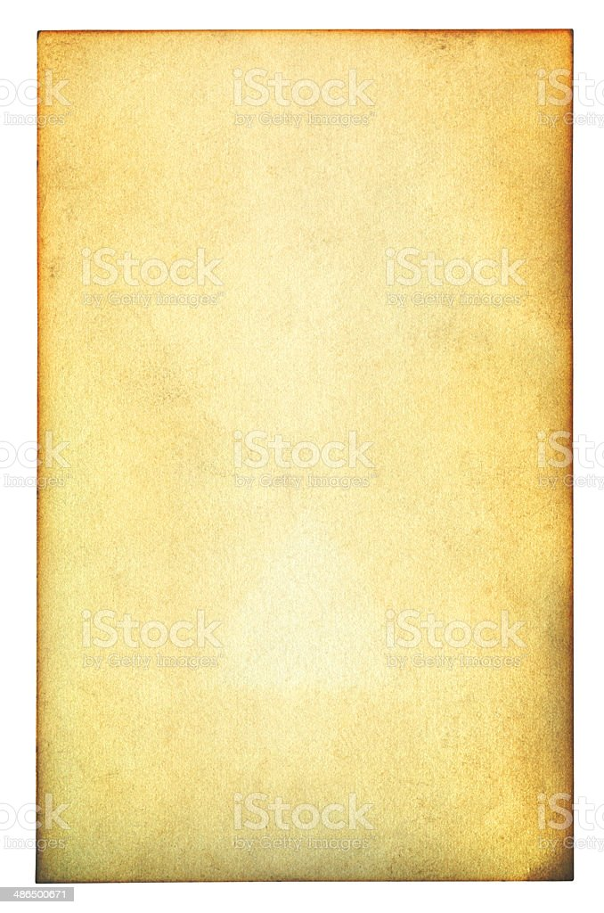 Brown paper isolated (clipping path included) royalty-free stock photo