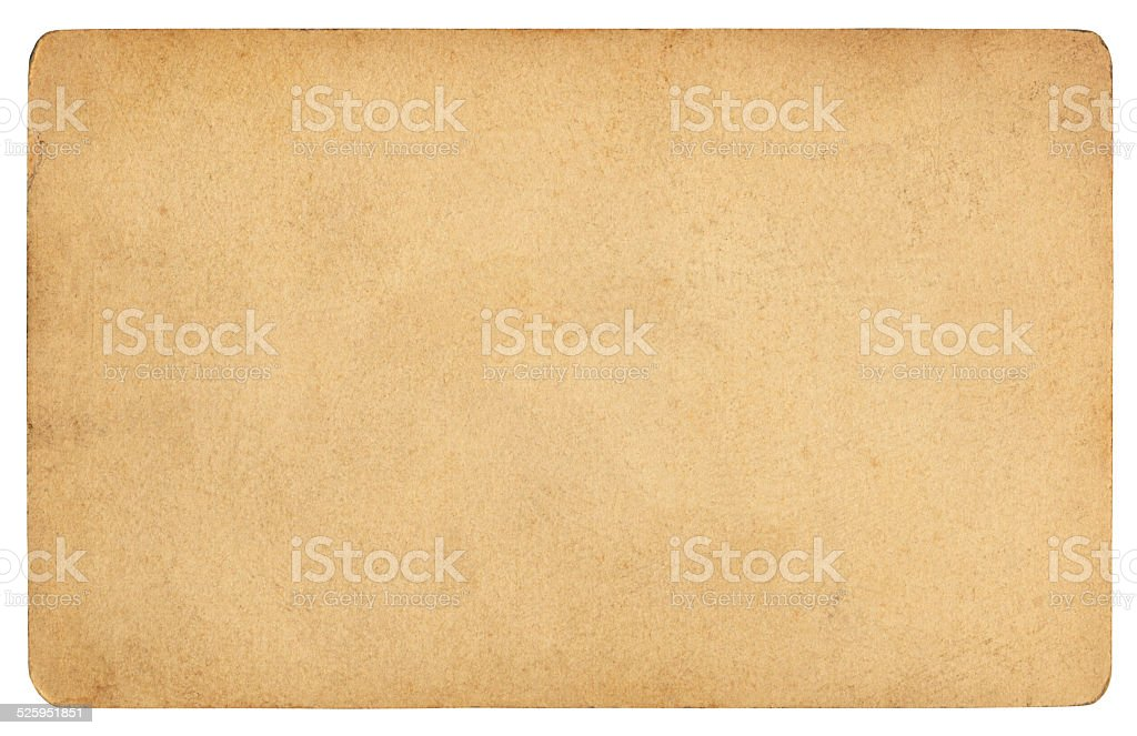 Brown paper isolated (clipping path included) stock photo