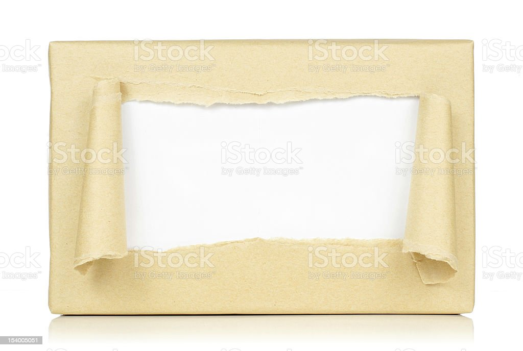 brown paper package royalty-free stock photo