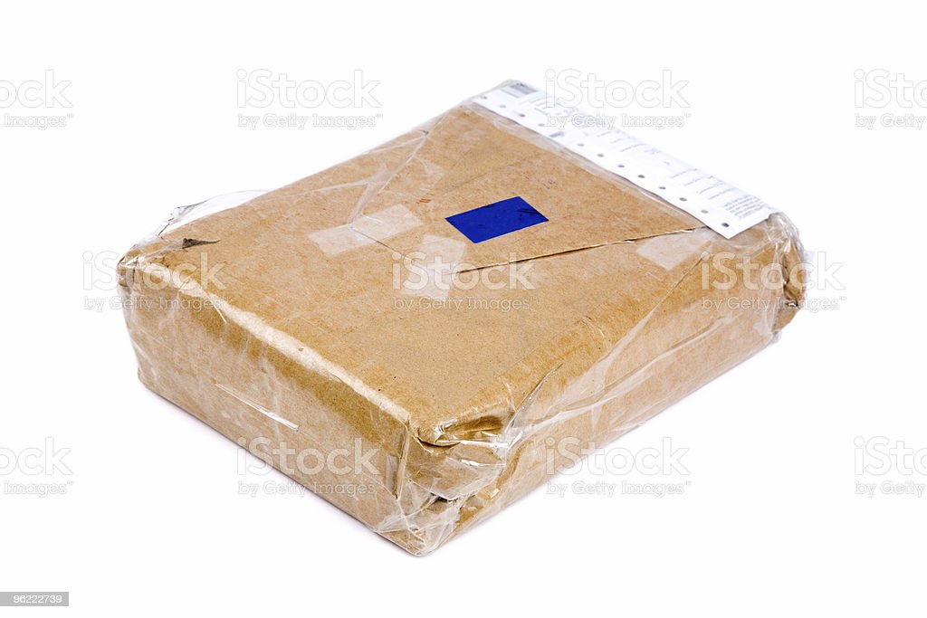brown paper package stock photo