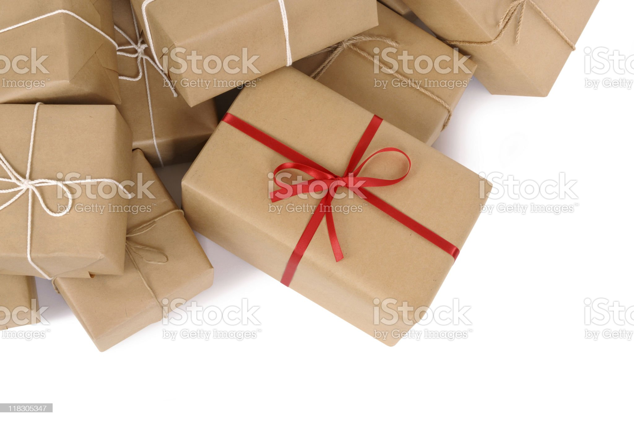 Brown paper packages royalty-free stock photo