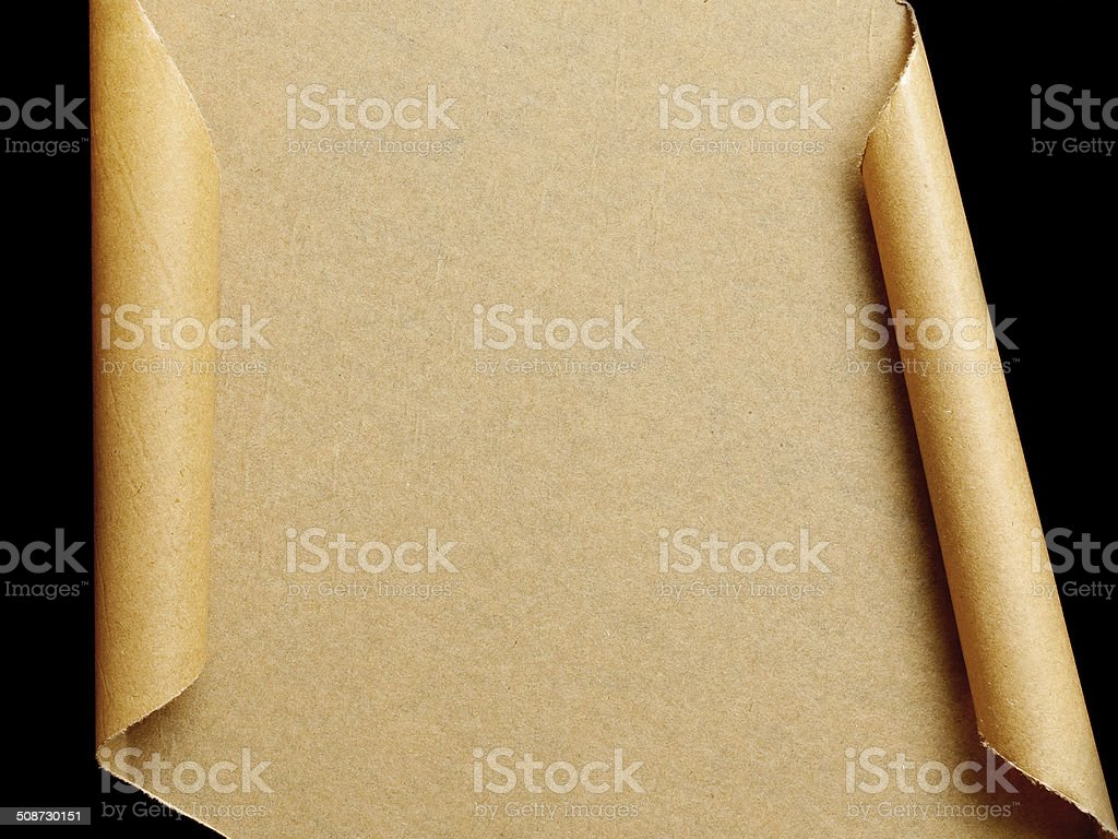 Brown Paper Page Curl background textured stock photo