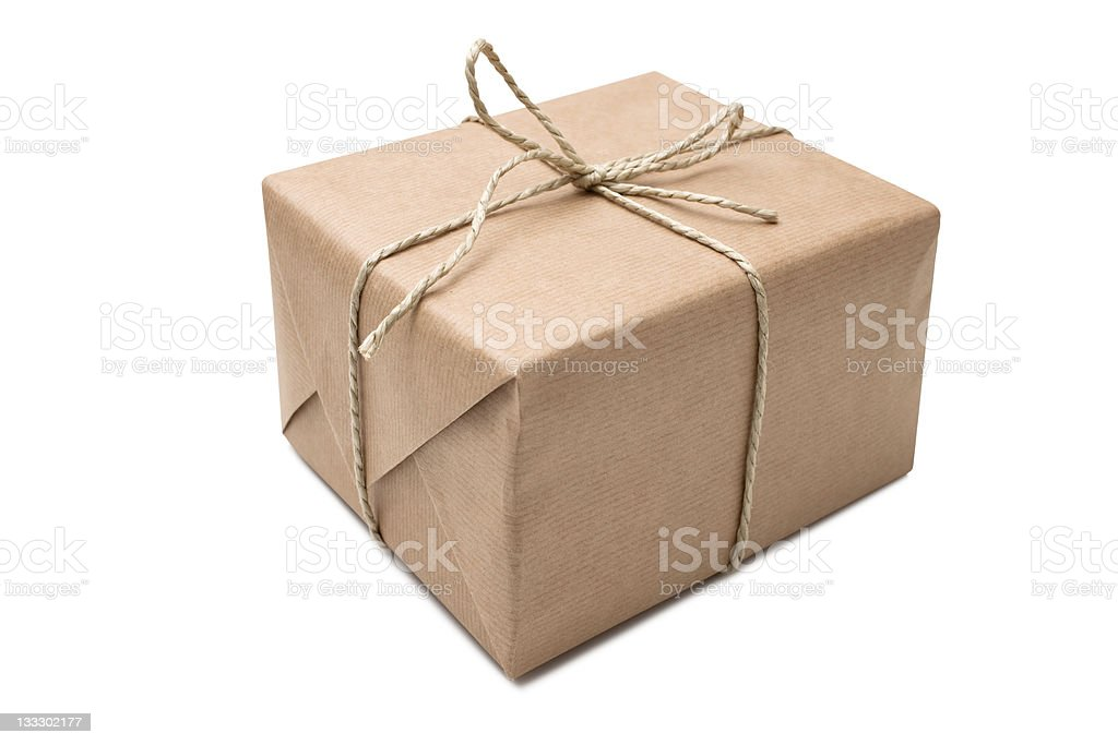 Brown paper parcel royalty-free stock photo
