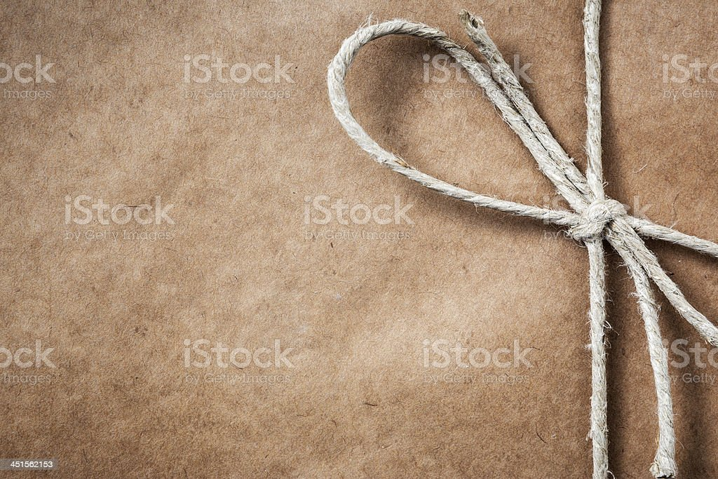 Brown paper parcel with copy space stock photo