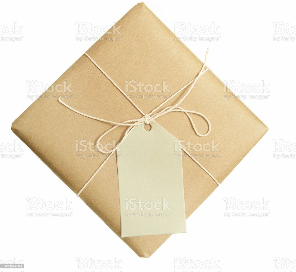 Brown Paper Parcle royalty-free stock photo