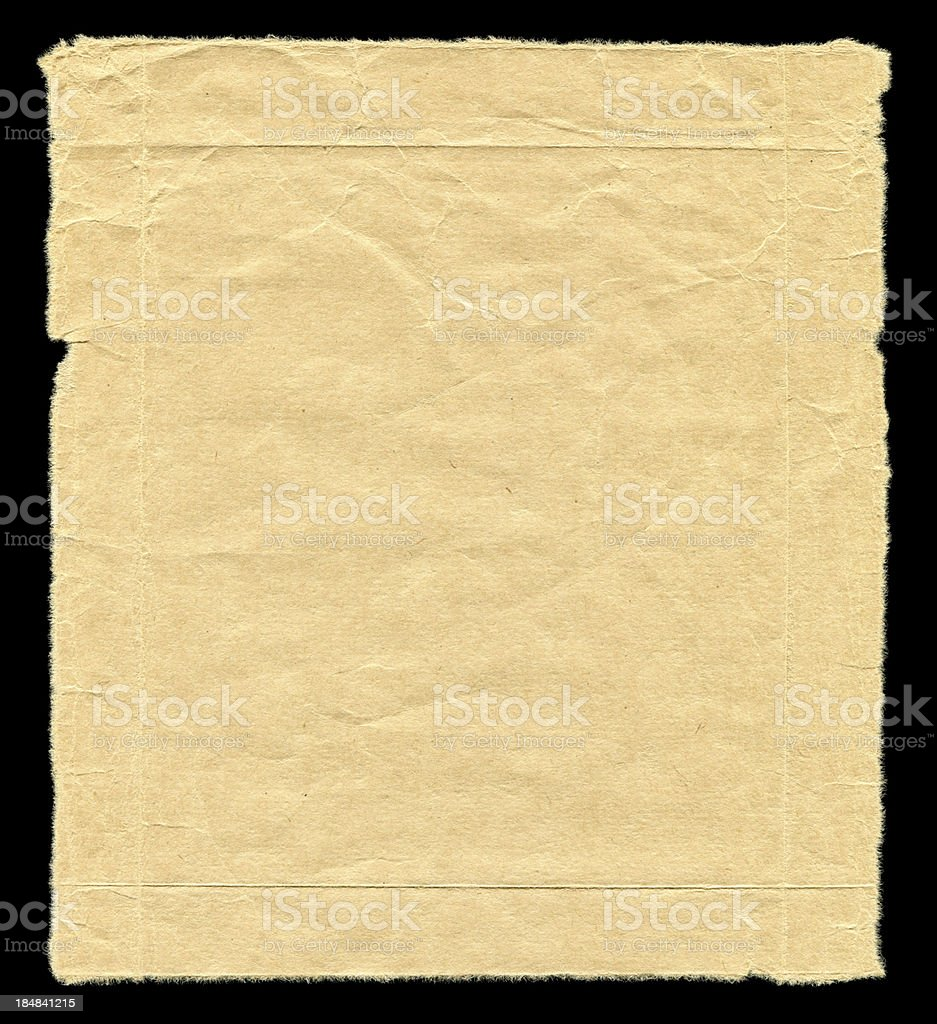 Brown Paper textured isolated on black background royalty-free stock photo