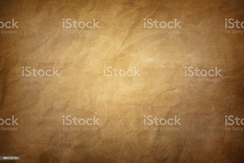 Brown paper. Vintage parchment background stock photo