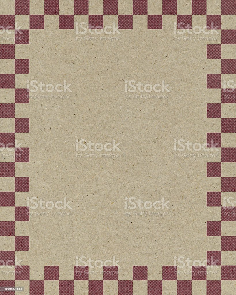 brown paper with checked border royalty-free stock photo