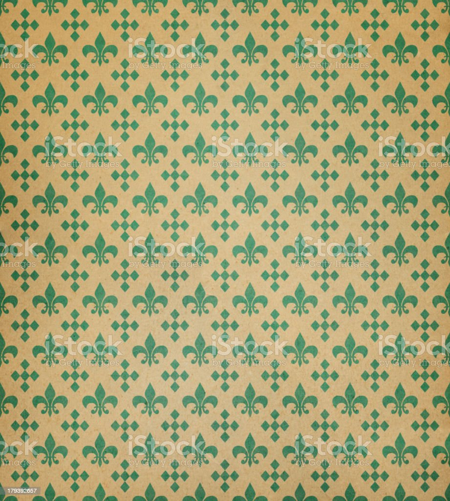 brown paper with classic symbols stock photo