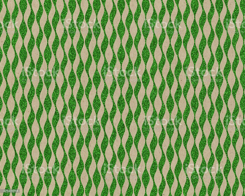 brown paper with green glitter design royalty-free stock photo