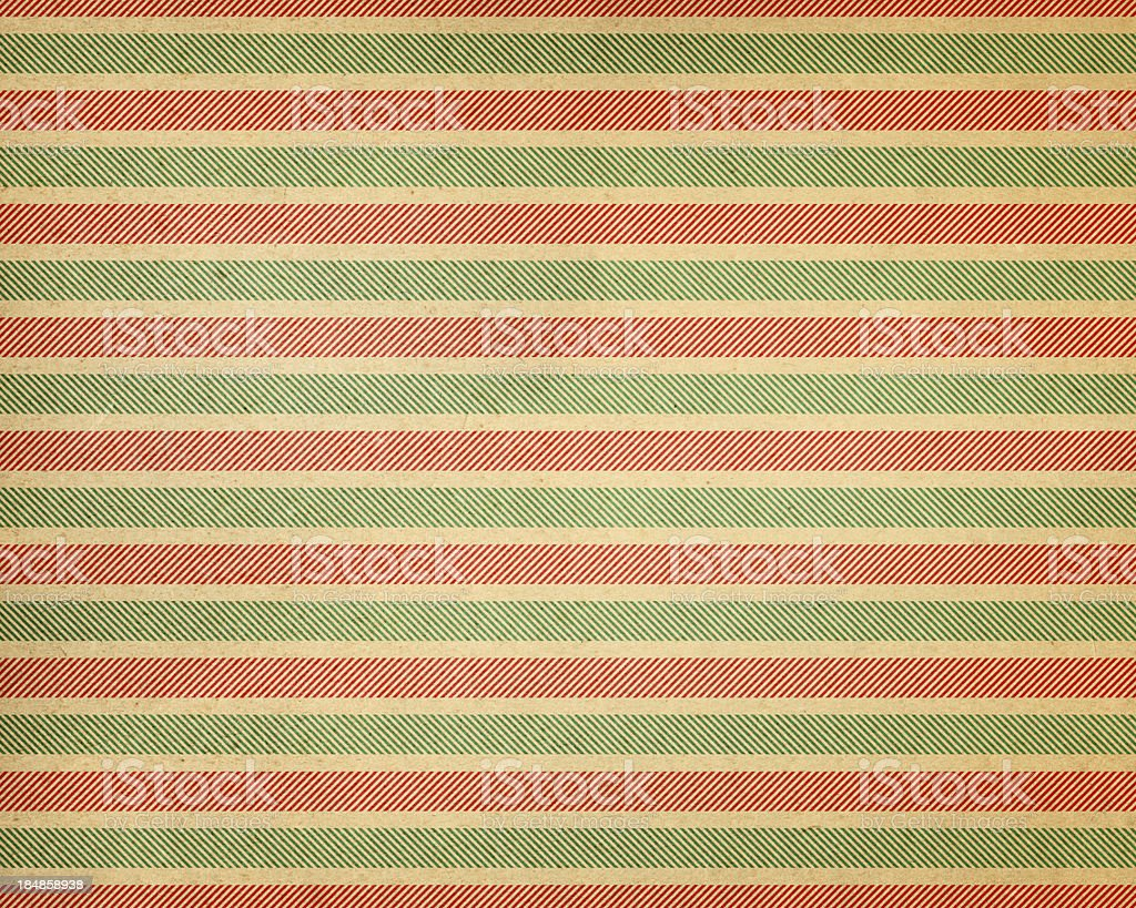 brown paper with holiday stripes stock photo