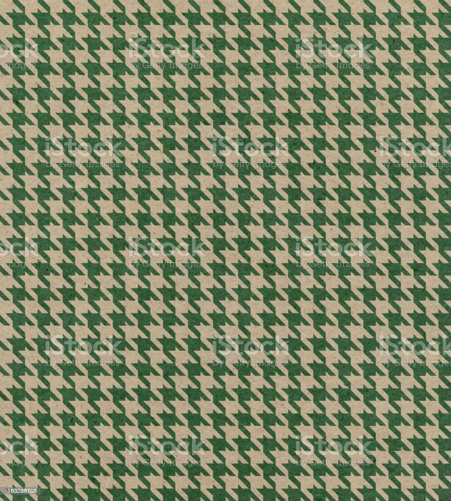 brown paper with houndstooth pattern stock photo