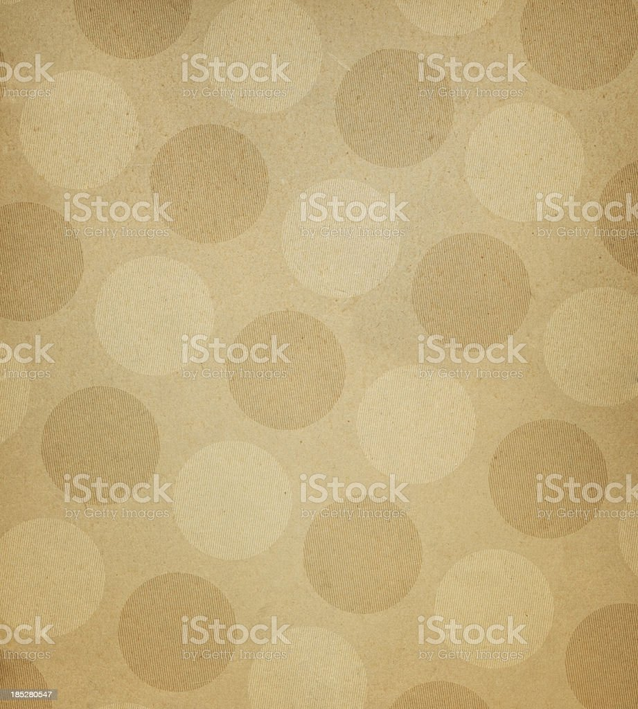 brown paper with large dots royalty-free stock photo