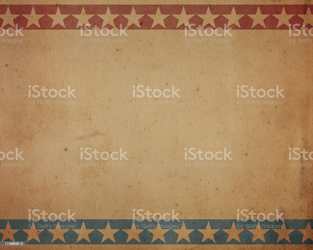 brown paper with patriotic star pattern stock photo