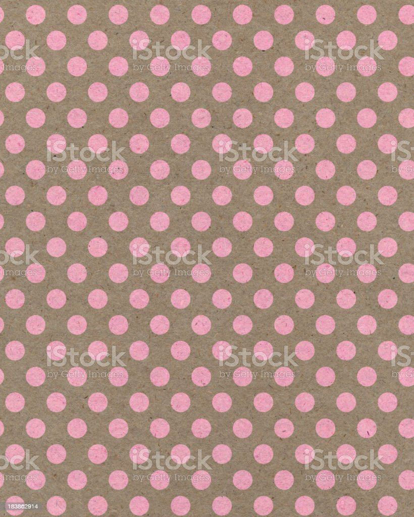 brown paper with pink dots royalty-free stock photo