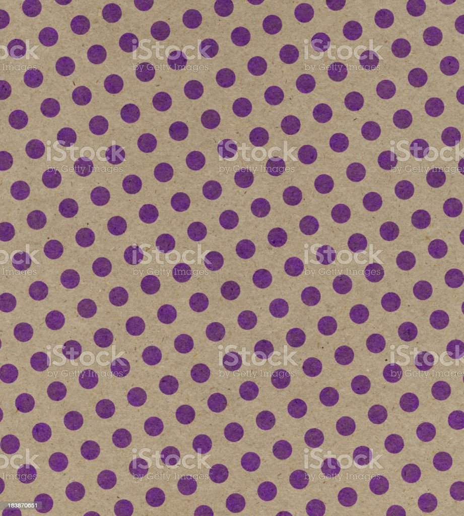 brown paper with purple dots royalty-free stock photo