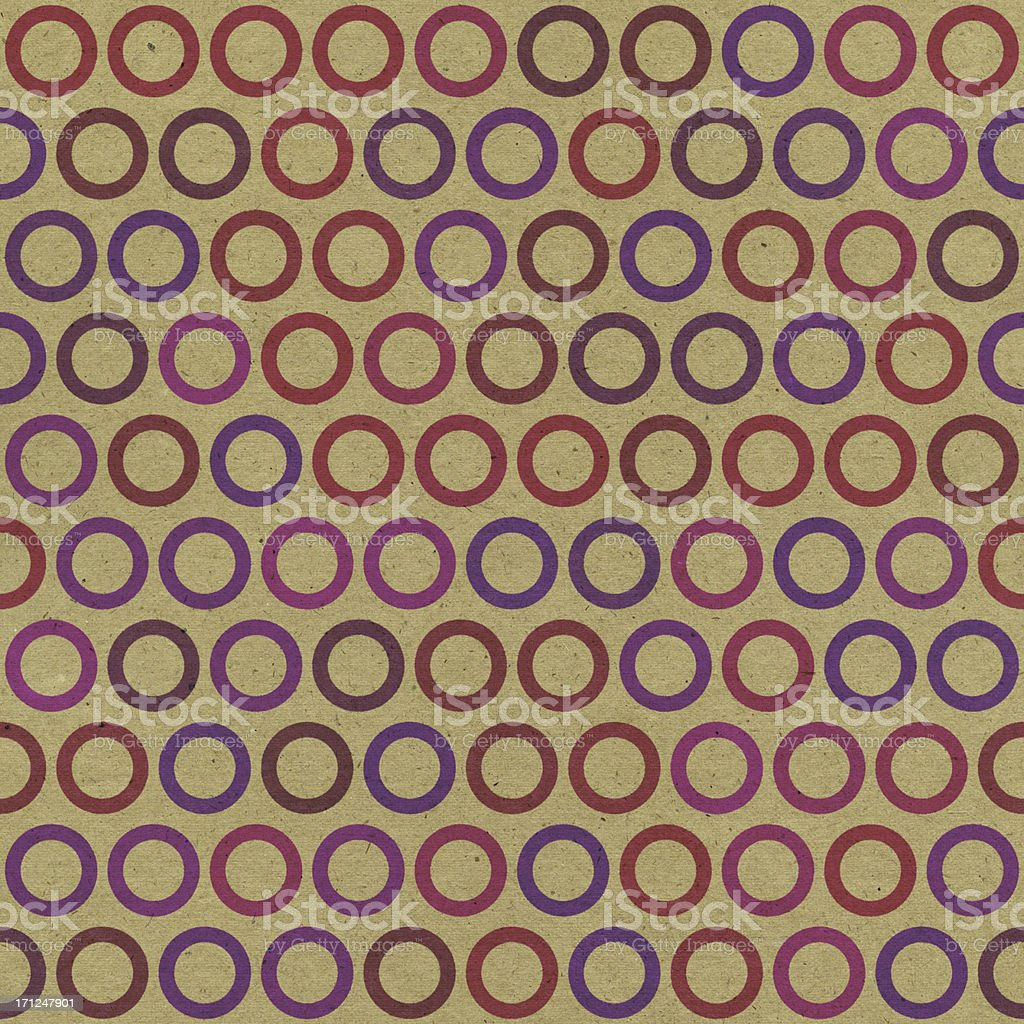 brown paper with seamless color ring pattern royalty-free stock photo