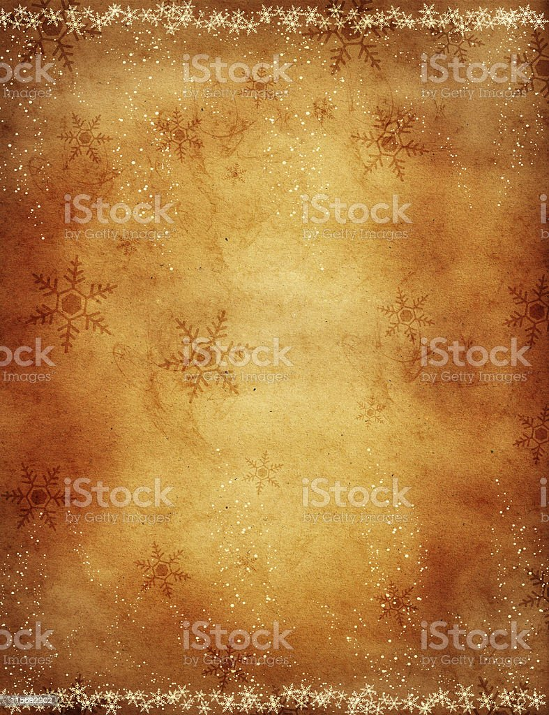 brown paper with snowflakes royalty-free stock photo
