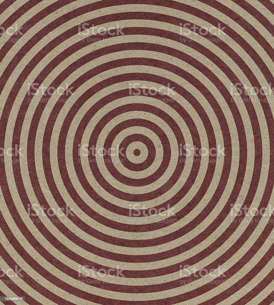 brown paper with spiral target pattern royalty-free stock photo