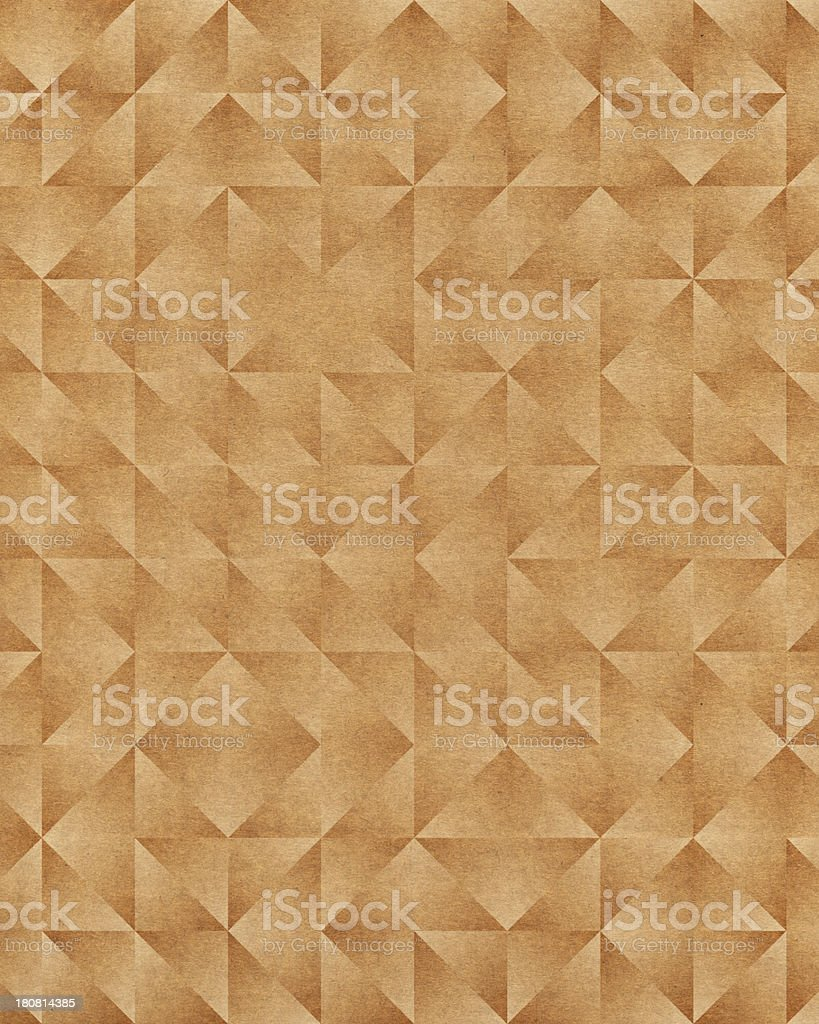 brown paper with triangle pattern royalty-free stock photo