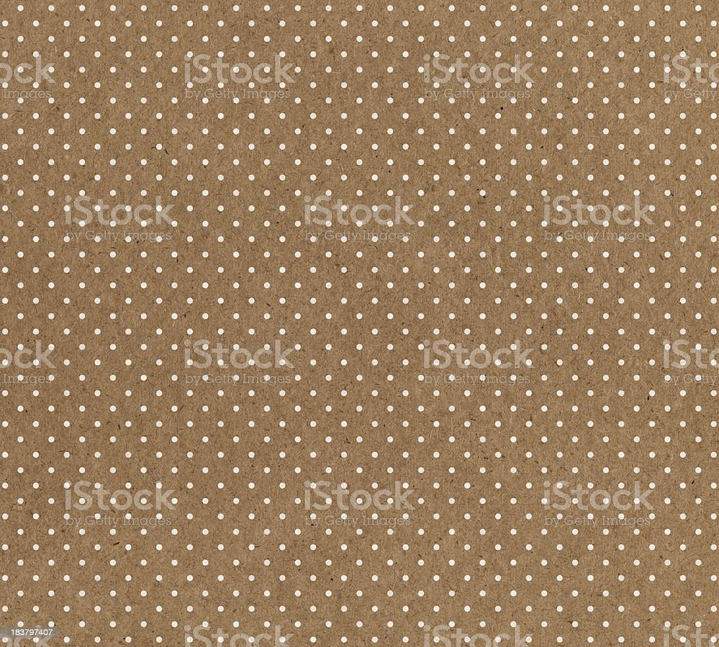 brown paper with white dots royalty-free stock photo