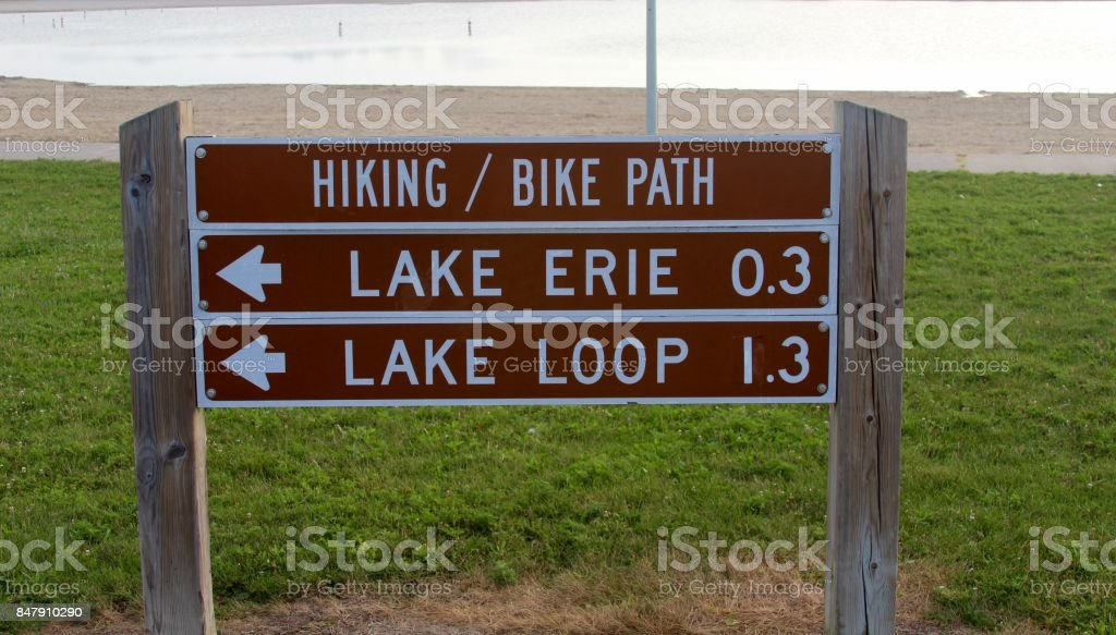 Brown Park Sign stock photo