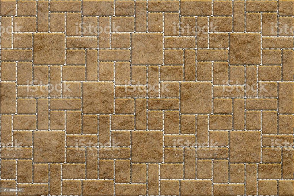 Brown Pavement , Rectangular and Big and Small stock photo