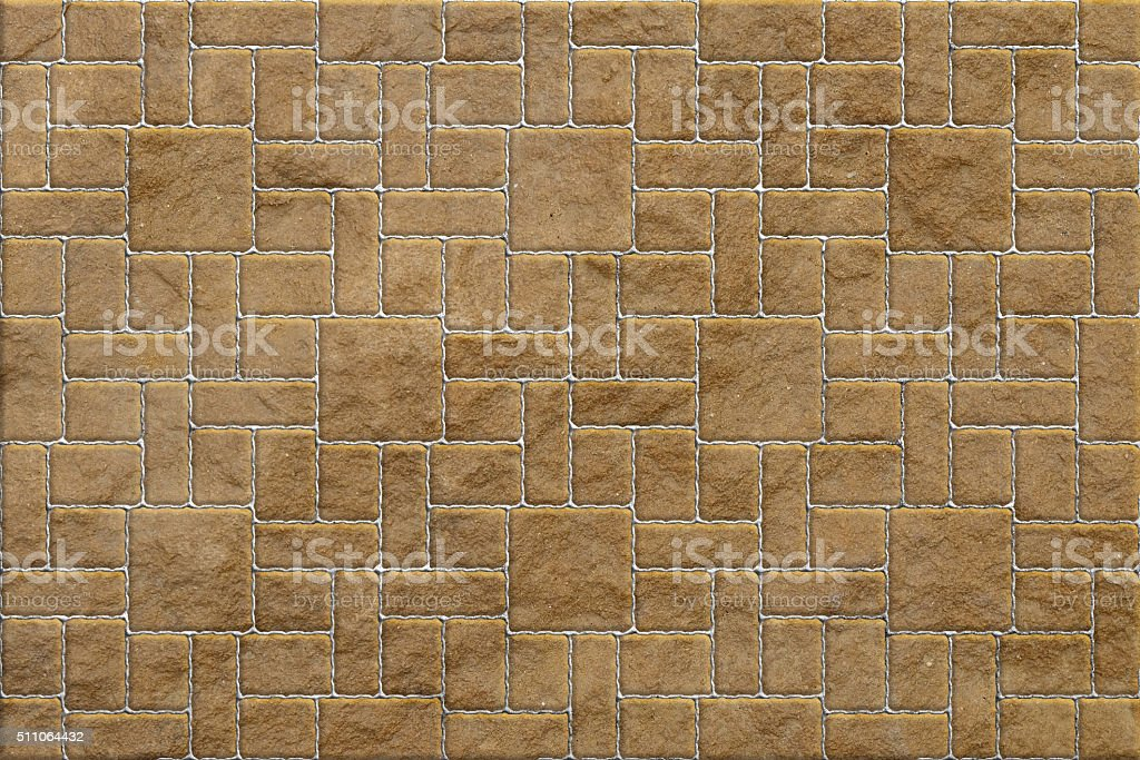 Brown Pavement , Rectangular and Big and Small stock photo